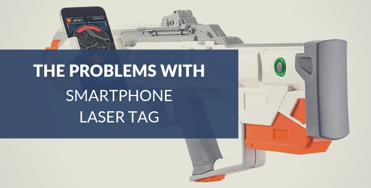 Smartphone laser tag augmented reality