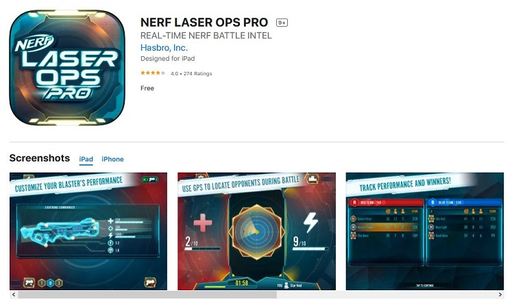 The Nerf Laser Ops Pro app