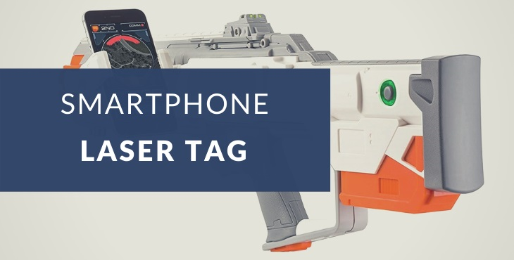 Smartphone laser tag with augmented reality explained